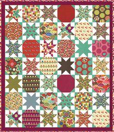 Starstruck by Lella Boutique, a layer cake pattern