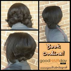 Bob! Curls! Two Strand Twist Up Do! Relaxed Style: Short Cut, Waves and Curls Relaxed Styles, Natural Styles, Keratin Treatments, Custom Color, Precision Cuts, Make up, Facials, Waxing and more!  Book online!  www.goodhairday.net