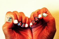 very neat olympic nails!