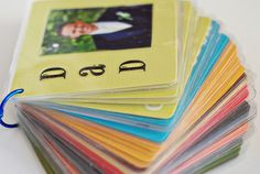 Make your own flashcards. Love this idea! Great to use during those quite hours at church