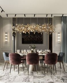 Modern Dining Room Design Ideas That Are Comfortable - Luxury Dining Room, Dining Room Design, Dining Room Modern, Dining Rooms, Lighting For Dining Room, Living Room Contemporary, Dining Table, Modern Room, Dining Area