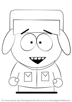 Learn How to Draw Kyle Broflovski from South Park (South Park) Step by Step : Drawing Tutorials Hard Drawings, Easy Cartoon Drawings, Cute Drawings, Simple Cartoon, Cartoon Kids, South Park Tattoo, Character Outline, Kyle South Park, Birthday Card Drawing