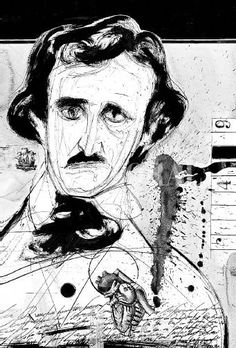 """(1) """"El pozo y el péndulo"""", de Edgar Allan Poe. Retrato del autor, por Luis Scafati."""