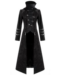 Black Military Style Gothic Fashion Trench Coats for Men SKU ...
