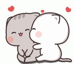 Cute Cartoon Pictures, Cute Love Cartoons, Cute Images, Cute Pictures, Cute Bear Drawings, Cute Couple Drawings, Cute Anime Cat, Cute Cat Gif, Chibi Cat