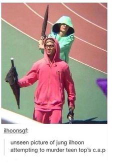 I don't know why I'm laughing :)   Ilhoon & C.A.P