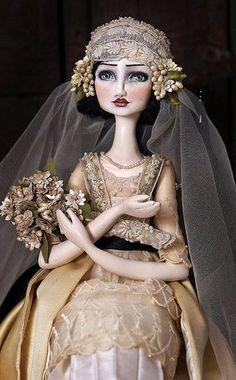 """Azuncena""  June 2011 by Christine Alvarado of Du Buh Du Designs. She makes the most charming art dolls."