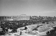 Vista exterior del antiguo estadio de Chamartín —construido en 1947— en un día de partido. Foto: Manuel Urech