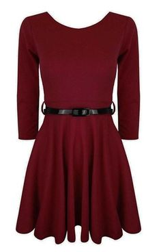 Funky Boutique Women's 3/4 Sleeve Skater Dress | Amazon.com