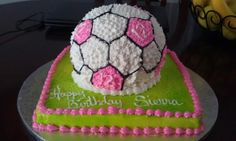 girls soccer birthday cake - Google Search