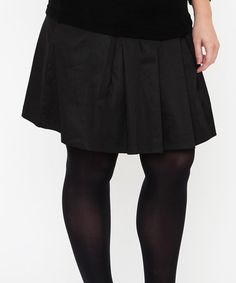 Black Over-Belly Maternity Pleated Skirt by EGG on #zulily