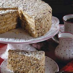 Straubinger Agnes-Bernauer-Torte Recipe for 1 cake Shopping list Für den T . Bakery Cakes, Food Cakes, Holiday Appetizers, Holiday Recipes, Easy Cookie Recipes, Cake Recipes, German Baking, Torte Recipe, Almond Cakes