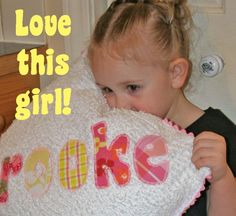 DIY Personalized Chenille Pillow Tutorial