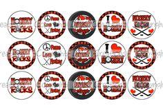 Me encanta HOCKEY rojo & negro deportes equipo escuela espíritu botella tapa imágenes 4 x 6 para imprimir chapas Collage descarga inmediata de DesignsbyDMK en Etsy https://www.etsy.com/mx/listing/84897544/me-encanta-hockey-rojo-negro-deportes