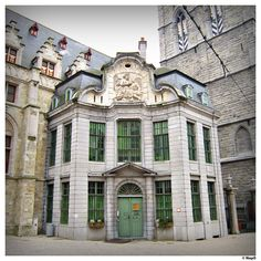 Patershol Zeugsteeg in Ghent, Belgium. Architecture