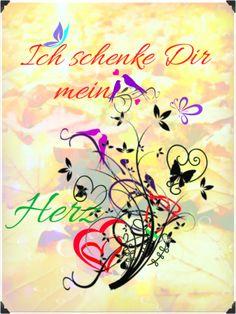 Ich schenke Dir mein Herz Arabic Calligraphy, Heart, Love, Arabic Calligraphy Art