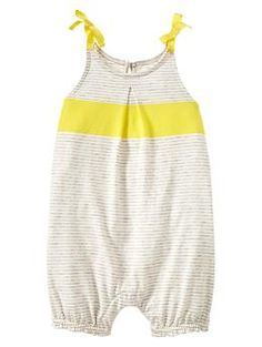 Colorblock striped one-piece from Baby Gap (my favorite place to shop for Eliza!)
