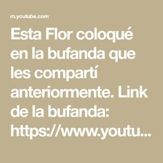 Math, Link, Youtube, Flower, Tejidos, Math Resources, Youtubers, Youtube Movies, Mathematics