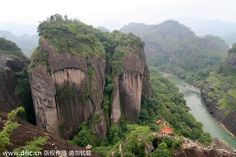 The Wuyi Mountains are a mountain range located in the prefecture of Nanping, in northern Fujian province near the border of Jiangxi province. The mountains were listed as a UNESCO World Heritage Site, for cultural, scenic, and biodiversity values in 1999.  The Wuyi Mountains are located between Wuyishan City, Nanping prefecture in Fujian province and Wuyishan,in the city of Shangrao in Jiangxi province.