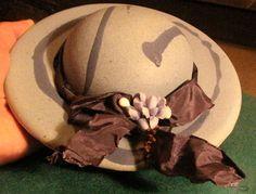 Swedish Sweden porcelain art pottery ceramic WALL Hat Home decore  Autor signed