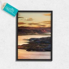 Plakat w ramie Romantyczny zachód słońca na ścianę  50x70cm