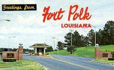 I think this is the gate where Ed & I met.  Ft. Polk, Louisiana