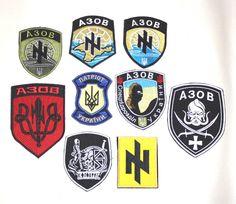 PATCH UKRAINIAN ARMY REGIMENT AZOV SET 9 VELCRO CHEVRON UKRAINE WAR  RUSSIA