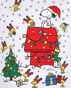 Snoopy and Woodstock Merry Christmas, Peanuts Christmas, Charlie Brown Christmas, Charlie Brown And Snoopy, Christmas Humor, Vintage Christmas, Christmas Time, Christmas Cards, Xmas