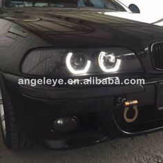 489.99$  Buy now - http://ali0bp.worldwells.pw/go.php?t=32521137942 - For BMW E39 Head Lamp Angel Eyes 1995-2003 year JX