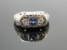 Hey, I found this really awesome Etsy listing at https://www.etsy.com/listing/121414638/18k-white-gold-sapphire-and-diamond-art
