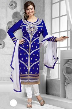 Ayesha Takia Special New Attractive White #Straight Suit - Thankar for online shopping in India. visit: http://www.thankar.com Contact Us: +91-7623989000 Email: support@thankar.com