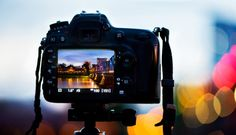 Back of a DSLR camera at dusk during a Chiang Mai Photo Workshop