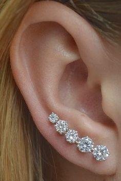 Ooh La La Mini Earring Ear Cuff Minimalist Ear by ChapmanJewelry