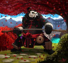 World of Warcraft Fan Art: Pandaren Monk. by AlbertoChuqui.deviantart.com on @deviantART