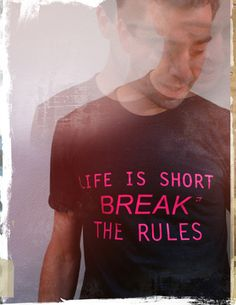 #BETYPICAL # T-shirt BREAK THE RULES  € 27.50  color: Black sizes: S / M slim fit  quality: 50% polyester, 25% cotton, 25% rayon - www.betypical.nl