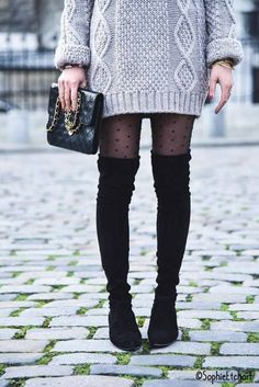 Sexy outfits for a date that the cold will not ruin you - bertin myriam - Winter Fashion Comfy Fall Outfits, Fall Winter Outfits, Autumn Winter Fashion, Summer Outfits, Sexy Outfits, Casual Outfits, Fashion Outfits, Womens Fashion, Winter Tights