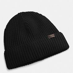 337b2903b1168 Coach Merino Wool Men s Knit Hat Black is high quality and a very  thoughtful present.