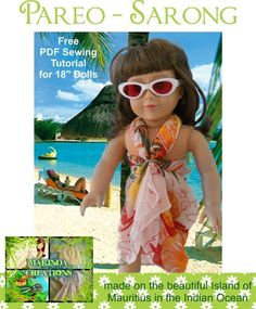 FREE Sarong Beach wrap pattern for American Girl