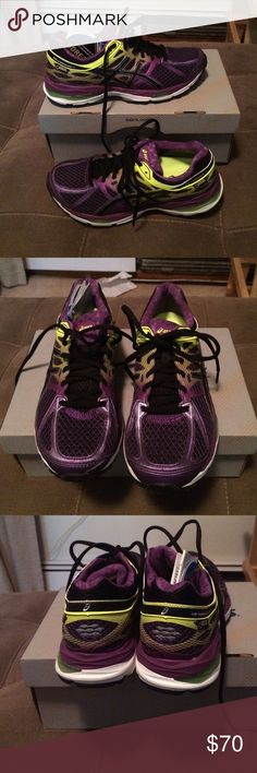 New asics women running sneakers New asics women running sneakers size 8 color purple Asics Shoes Athletic Shoes