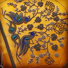 Discover thousands of images about And this season begins with peacock :) Peacock Blouse Designs, Peacock Embroidery Designs, Hand Embroidery Design Patterns, Kids Blouse Designs, Kurti Embroidery Design, Hand Work Embroidery, Designer Blouse Patterns, Bridal Blouse Designs, Blouse Neck Designs