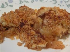 Amish Apple Crisp  ~~~ Another wonderful Amish inspired dish. We serve this for dessert, or for breakfast. Very tasty!
