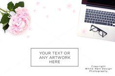 Styled desktop stock photography by White Hart Design Studio on Creative Market