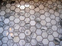 Floor with grey grout for our bathroom