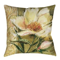 Sketchbook Floral Printed Throw Pillow