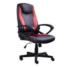 PU Leather High-Back Racing Style Executive Head Support Office Gaming Chair