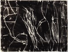 Untitled, Cy Twombly, 1953. Monotype in paint, 48 x 64cm.