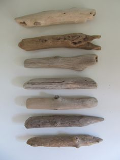 Roundish Driftwood Sticks - 7 1/4 -8 1/2 Inch Driftwood Pieces - DIY Driftwood Beach Decor - Drift Wood Crafting Rods by LonelyBeach on Etsy