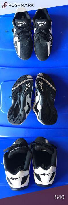 Reebok black and white men's shoes Reebok black and white men's shoes worn once in excellent condition Shoes Sneakers