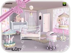 For a long time, I did not make the nursery.So, here: the nursery Lucia Fery.  Found in TSR Category 'Sims 3 Nursery Sets'