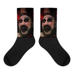 The Devil's Rejects Captain Spaulding Socks Awesome Socks, Cool Socks, The Devil's Rejects, Us Man, Artwork Prints, Bold Colors, Cold, Illustration, Cotton